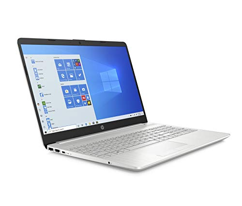 HP - PC 15-dw1016nl Notebook, Intel Core i7-10510U, RAM 8 GB, SSD 256 GB, NVIDIA GeForce MX130 2 GB, Windows 10 Home, HP Fast Charge, Lettore Micro SD, USB-C, HDMI, Webcam, RJ-45, Argento