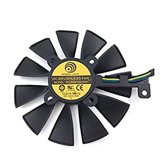 PLD09210S12HH 85mm 28x28x28x28mm 12V 0.40A 4Wire 5Pin For ASUS STRIX GTX970 GTX960 Graphics Card Cooler Cooling Fan
