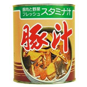 缶詰 惣菜 具沢山 豚汁 2号缶 (3-4人分) X5缶セット (和食 とん汁 非常食 保存食 にも)