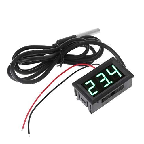 "Tshopm 0,56\""DS18B20 Digitale Thermometer Wasserdichte Temperaturfühler Sonde DC 12 V 24 V"