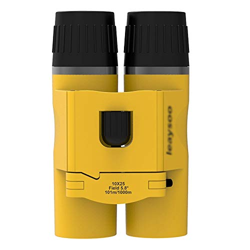 Jiamuxiangsi- Verrekijker Mini 10X25 Draagbaar Geel Kinderen Volwassen High-definition Low-light Night Market Outdoor Mountaineering Tour Concert Ball Game -Binoculars