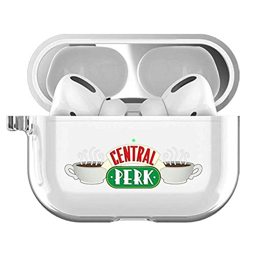 Friends Airpods Pro Clear Case,Friends Tv Show Merchandise,AirPods Pro Clear Case Protective Cover Skin - Clear Premium Hard Shell Accessories Compatible with Apple AirPods Pro (Friends)