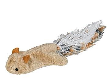 Nobby Jouet Peluche en Forme Écureuil Volant + Herbe à Chat pour Chat 10,5 cm