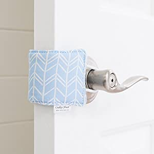 The Original Cushy Closer Door Cushion | No More Noisy Doors! | Door Latch Cover- Baby Safety for Quiet Doors-3.5 x 5.5