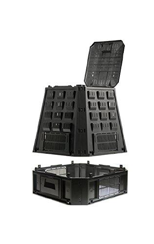 Prosper Plast Ikel630 C-s411 90 x 91 x 107 cm Evogreen Composteur – Noir (4 pièces)