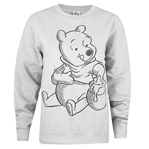Disney Winnie The Pooh Sketch Crew Sweat Sudadera, Gris Moondust, 38 para Mujer