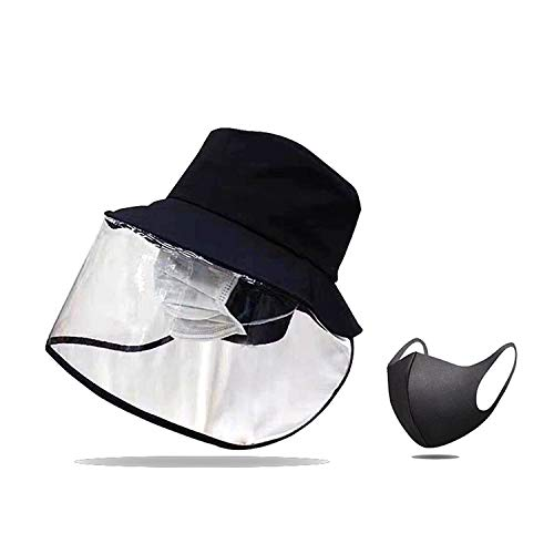 Transparent Shield Fisherman hat, Blocking Droplets, preventing Saliva, Wind and Sand Blowing into The Eyes, Blocking The Sun, Transparent Eye Protection, Unisex