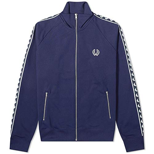 Fred Perry Taped Track Jacket Carbon Blue-40