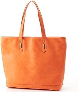 オティアス(Otias) 天ファスナースムースレザータイプ合成皮革トートバッグ