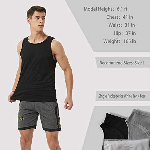 XIHUII Men's Tank Tops - 3 Pack Workout Gym Sleeveless Training Fitness for Men
