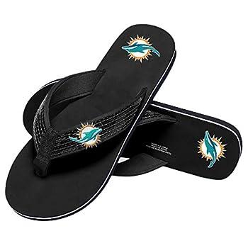 Miami Dolphins NFL Womens Sequin Flip Flops - M