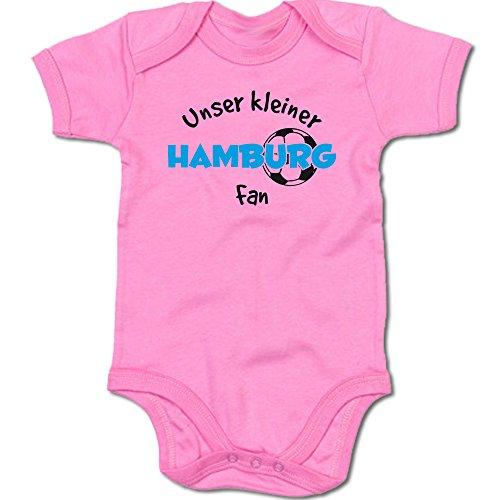 G-graphics Unser Kleiner Hamburg Fan Baby-Body Suite Strampler 250.0487 (0-3 Monate, pink)