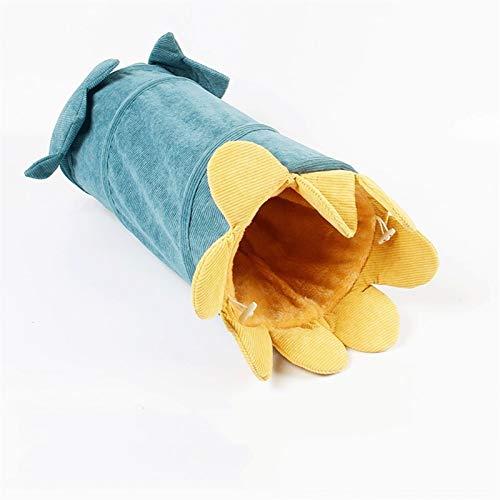 Große und kleine Tierspielzeug Zusammenklappbar Cat Tunnel Spielzeug --- aus Warm und bequem Velvet Core Interessante Tunnel Spielzeug, Verwendet for Einzel Katze oder mehrere Katzen zu spielen und Ve