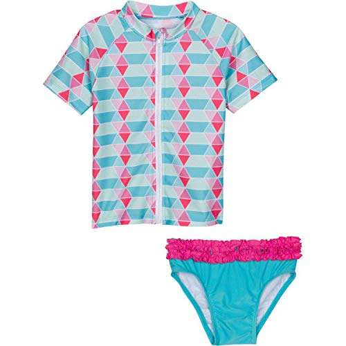 Swimzip Little Girl cremallera Juego de bañadores de Rash Guard Upf 50 + 'Pool Party