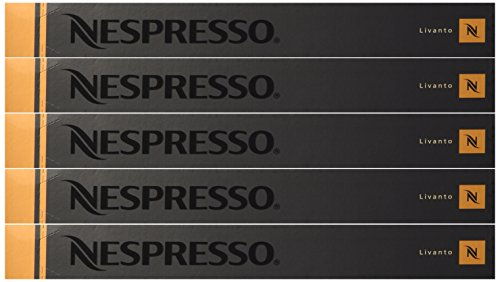 Nespresso OriginalLine Capsules: Livanto, 50 Count - ''NOT compatible with Vertuoline''