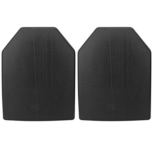 XINMYD Vest Plate,2PCS Lightweight Portable Rubber Vest Chest Protection Carrier Plate Guard Board Tactics Waistcoat Accessory(Black)
