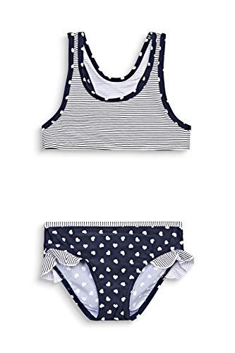 ESPRIT Bodywear Mädchen Sweet Hearts AOP Bustier+Brief Bikini-Set, 401/NAVY 2, 116/122