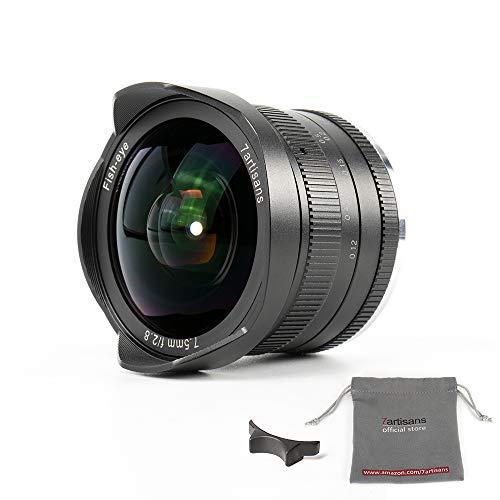 7artisans 7.5mm f2.8 APS-C Fischaugen-Objektiv für Sony EMOUNT Kameras wie A7 a7II A7R a7rii A7S a7sii A6500 A6300 A6000 A5100 A5000 ex-3 NEX-3 N nex-3r F3 K NEX-5 N – Schwarz