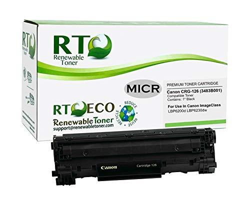 Renewable Toner Compatible MICR Toner Cartridge Replacement for Canon 126 3483B001 ImageCLASS LBP6200 LBP6230