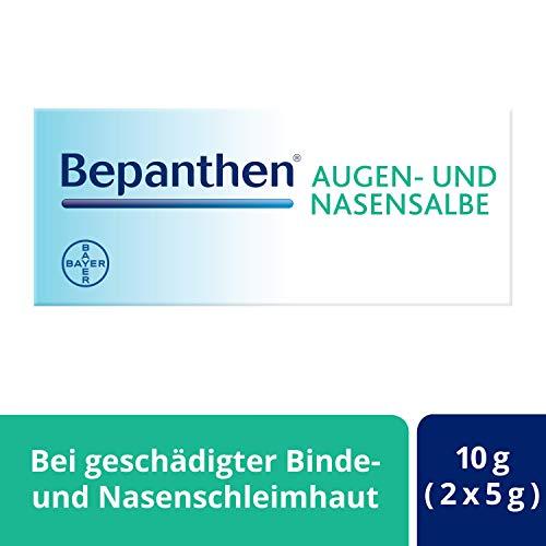Bepanthen Augen- und Nasensalbe zur sanften Heilung von wunden Nasen sowie oberflächlichen Schädigungen am Auge, 10 g, 1 Stück
