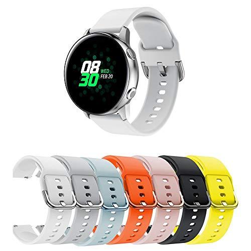 Pulseira Moderna para Samsung Galaxy Watch Active 40mm - Gear S2 Classic - Gear Sport R600 - Galaxy Watch 42mm - Amazfit Bip - Marca Ltimports (Branco)