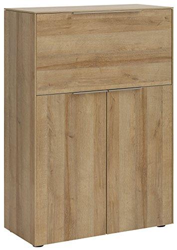 MAJA Möbel Sekretär, Holzdekor, Riviera Eiche, 80,80 x 38,20 x 115,60 cm