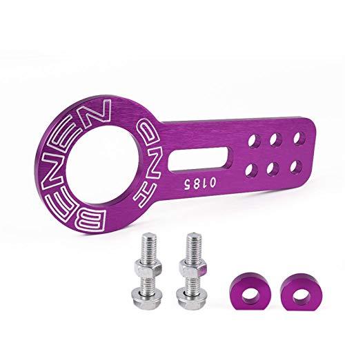 Universal Racing Car Front Tow Hook Fit für Auto Auto Trailer Ringstil eloxiert bunt Abschlepphaken AbschleppöSe FüR (Color Name : Purple)