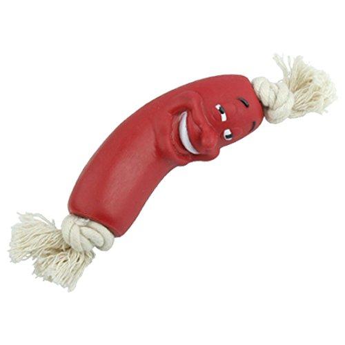 TOOGOO(R) Molar Spielzeug Pet Hund Welpen Wurst Kauen-Spielwaren mit Seil Spielzeuge Toy neu
