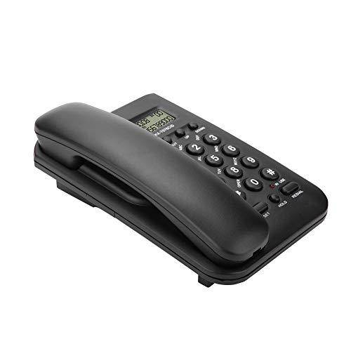 Wendry schnurgebundenes Telefon, Home Hotel verkabeltes Desktop-Wandtelefon Büro-Festnetztelefon (Schwarz)