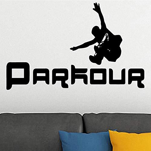 yaonuli Parkour running silhouet mode muur sticker woonkamer en jongen slaapkamer cartoon sport vinyl muur sticker huisdecoratie