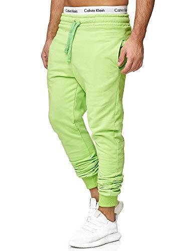 OneRedox Herren | Jogginghose | Trainingshose | Sport Fitness | Gym | Training | Slim Fit | Sweatpants Streifen | Jogging-Hose | Stripe Pants | Modell 5000C Mint Grün L