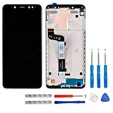 swark - Pantalla LCD compatible con Xiaomi Redmi Note 5 (Snapdragon 636), pantalla táctil, digitalizador, cristal y herramientas (negro con marco)