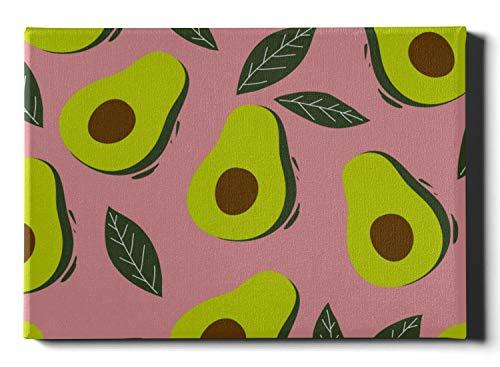 JEOLVP Wandfarben Avocado Cartoon Obst Outdoor Dekor Wandkunst 30 x 40 cm (12 x 16 Zoll) Bild Wandkunst Wandkunst Bilder hängen im Wohn- oder Schlafzimmer nach Hause