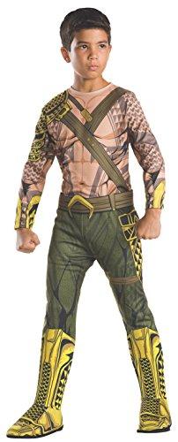 DC - Justice League Movie Disfraz Aquaman Classic infantil, S (Rubies Spain 620610-S)