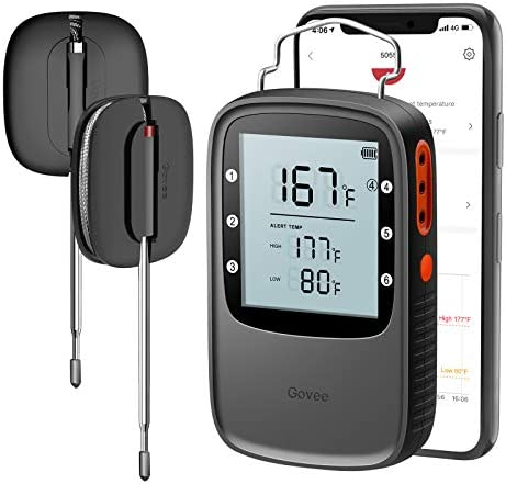 Govee Bluetooth Meat Thermometer Smart Wireless Grill Thermometer 230ft Remote Monitor Large product image