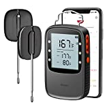 Govee Grill Thermometer, Bluetooth Digital Meat Thermometer with Dual Probe, 230ft Wireless Remote Monitor BBQ Thermometer for Smoker Kitchen Cooking Thermometer Timer for Grilling BBQ Oven Candy