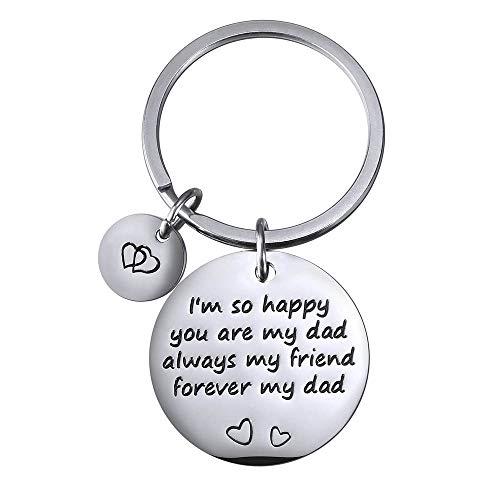 AidShunn Llavero de Hija Hijo Regalos del Día del Padre Mi Amigo Mi papá para papá Cumpleaños Llavero del Coche Llavero