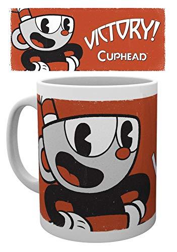 1art1 Cuphead, Cuphead Solo Foto-Tasse Kaffeetasse (9x8 cm) Inklusive 1x Überraschungs-Tasse