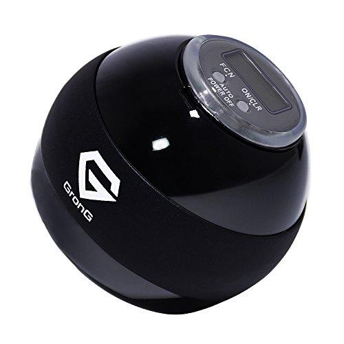 GronG(グロング) スピンボール リストトレーナー デジタルカウンター LED搭載 ブラック