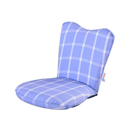 FS Lazy Small Sofa, Tatami Klappbares Einzel-Schlafsofa Computer Back Floor Sofa Waschbar, Blau