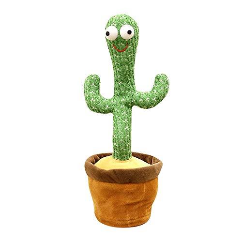 SunniMix Juguete de Peluche de Cactus Bailarín, Cactus Electrónico Baila con Vibración...