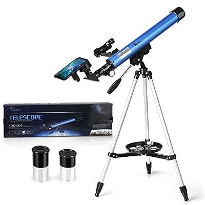 【Deux Oculaires Optionnels】: Ce télescope astronomique est équipé de deux oculaires différents. L'oculaire de 20mm peut être agrandi 30 fois, l'oculaire de 12.5mm peut être agrandi 48 fois. Selon la distance d'observation, sélectionnez l'oculaire cor...