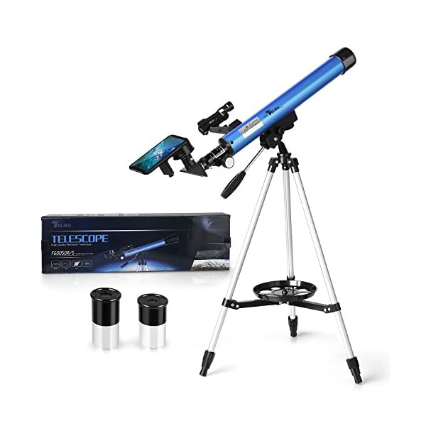 TELMU Telescope - Aperture 60mm & Focal Length 700mm Telescope For Amateurs With Smart Phone Adapter