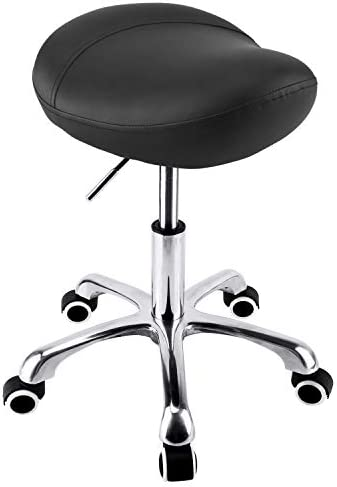 Geboor Hydraulic Saddle Stool with Wheels Rolling Adjustable Height for Clinic Dentist Spa Massage product image