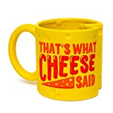 BigMouth Inc. Cheese Mug  Hilarious 20 oz Ceramic Coffee Cup  Reads Thats What Cheese Said, Perfect for Use at Home or Office, Makes a Great Gift Idea