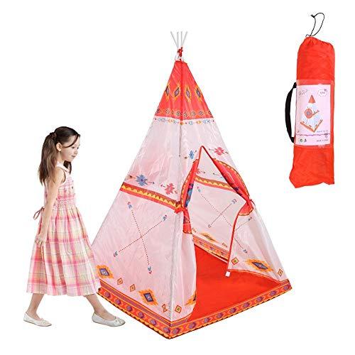 arthomer Tiendas de campaña para niños,Tipi Infantil con Bolsa de Almacenamiento De Juego Interior y Exterior Tipi Indio para niños Tienda Campaña Infantil Juguetes Niños