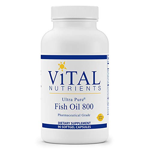 Vital Nutrients - Ultra Pure Fish Oil 800 (Pharmaceutical Grade) - Hi-Potency Wild Caught Deep Sea Fish Oil, Cardiovascular Support with EPA and DHA - 90 Softgels per Bottle