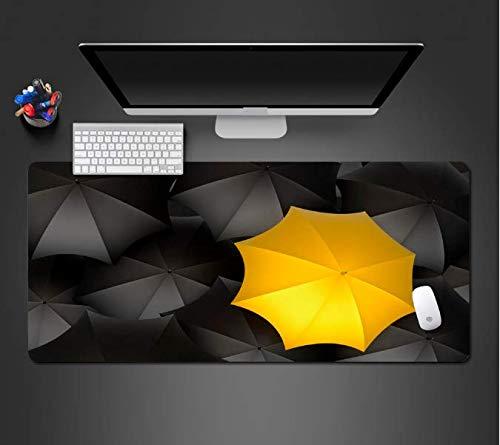 Muisonderlegger zwarte en gele paraplukussens grote steun PC-game-computermatten Heerlijk gamermat antislip duurzaam goed 900 x 400 x 3 mm