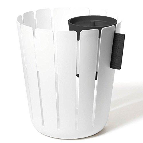 Konstantin Slawinski Papierkorb Basketbin mit Einsatz zur Mülltrennung Weiß/Schwarz