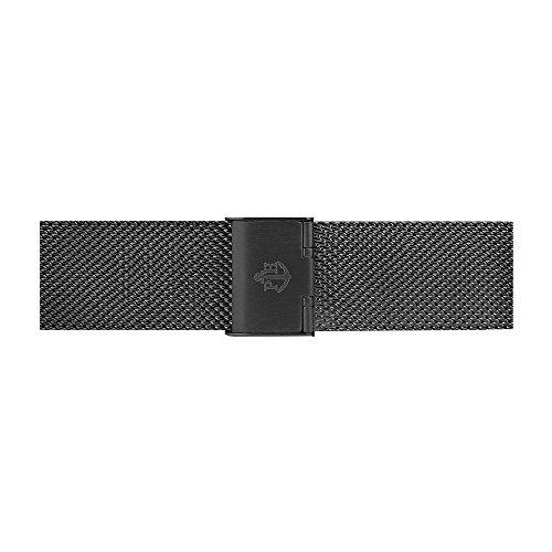 PAUL HEWITT Uhrenarmband aus Edelstahl Mesh oder Metall in 20 mm (Standard, Schwarz)